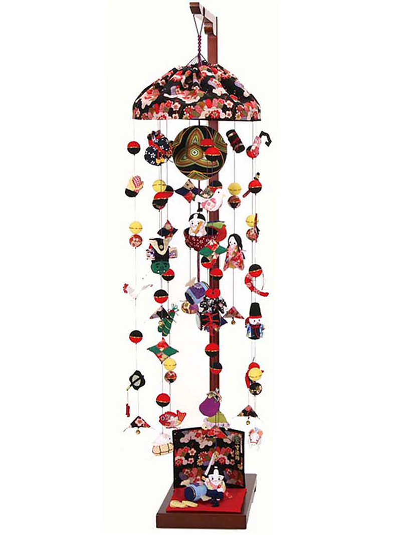 五月人形 つるし飾り 一寸法師 大 飾り台セットh285-sb-tr-1-l 人形屋ホンポ