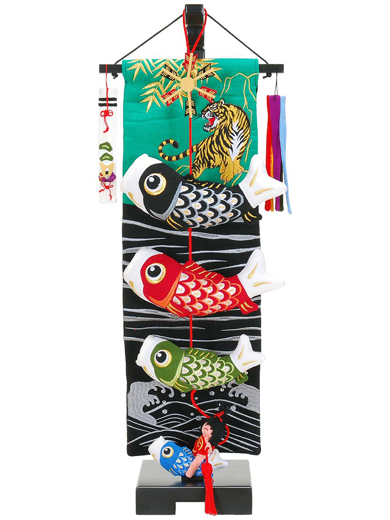 五月人形 こいのぼり 室内用 金太郎鯉のぼり 小 飾り台セットh285-sb-tr-gt-s 人形屋ホンポ