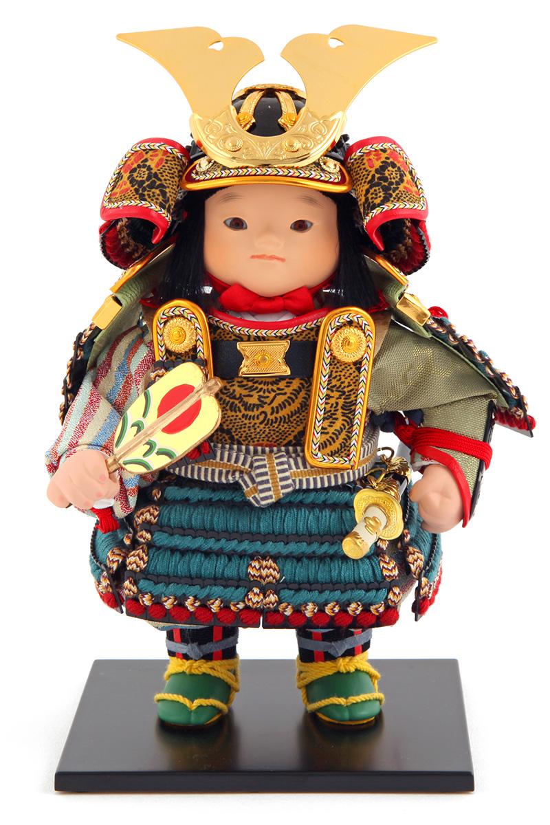五月人形 幸一光 松崎人形 子供大将飾り 人形単品 海 かい 黒小札 正絹 縹威 YaekoProject 【2019年度新作】 h315-koi-5812