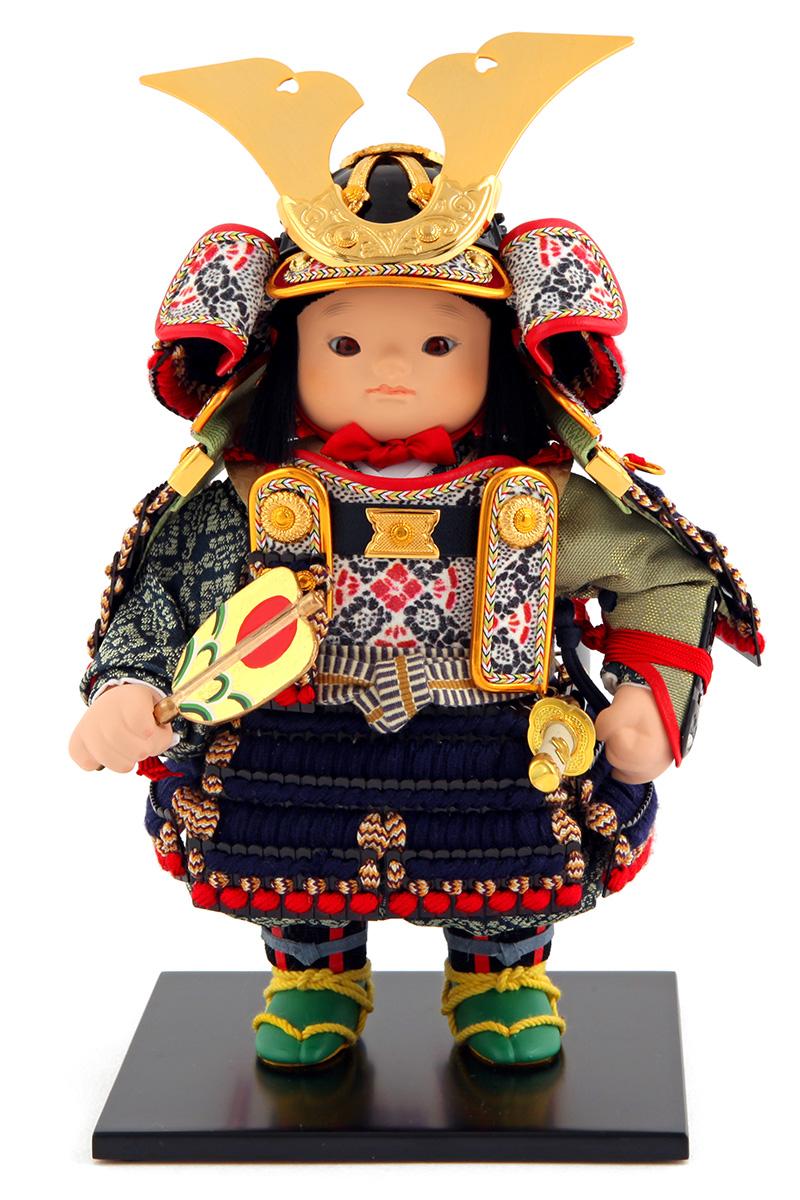 五月人形 幸一光 松崎人形 子供大将飾り 人形単品 翔 しょう 黒小札 正絹 紺糸威 YaekoProject 【2019年度新作】 h315-koi-5810