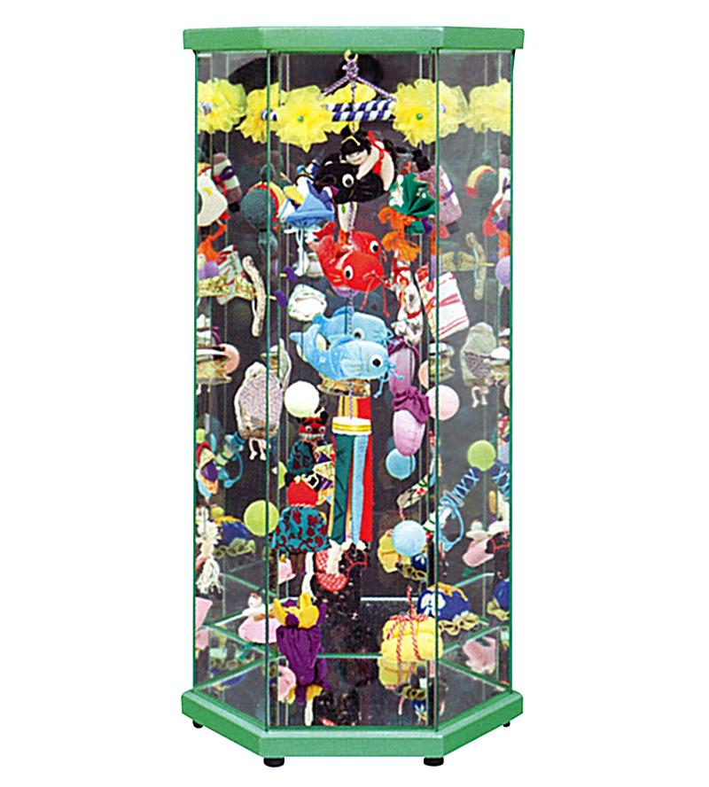 五月人形 久月 つるし飾り ケース飾り さげもんケース入 緑塗 (大) 【2019年度新作】 h315-k-tar23-6 D-81