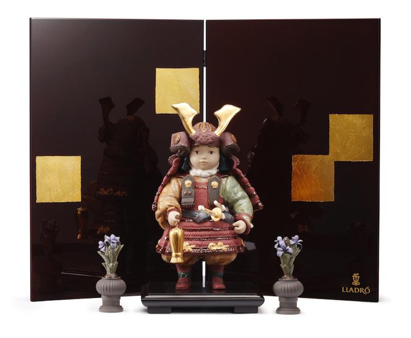 リヤドロ 五月人形 陶器 子供大将飾り 武者人形 Lladro 磁器人形 若武者60周年記念モデル フルセット 限定3500体 【2018年度新作】 h285-01013045-FS 人形屋ホンポ