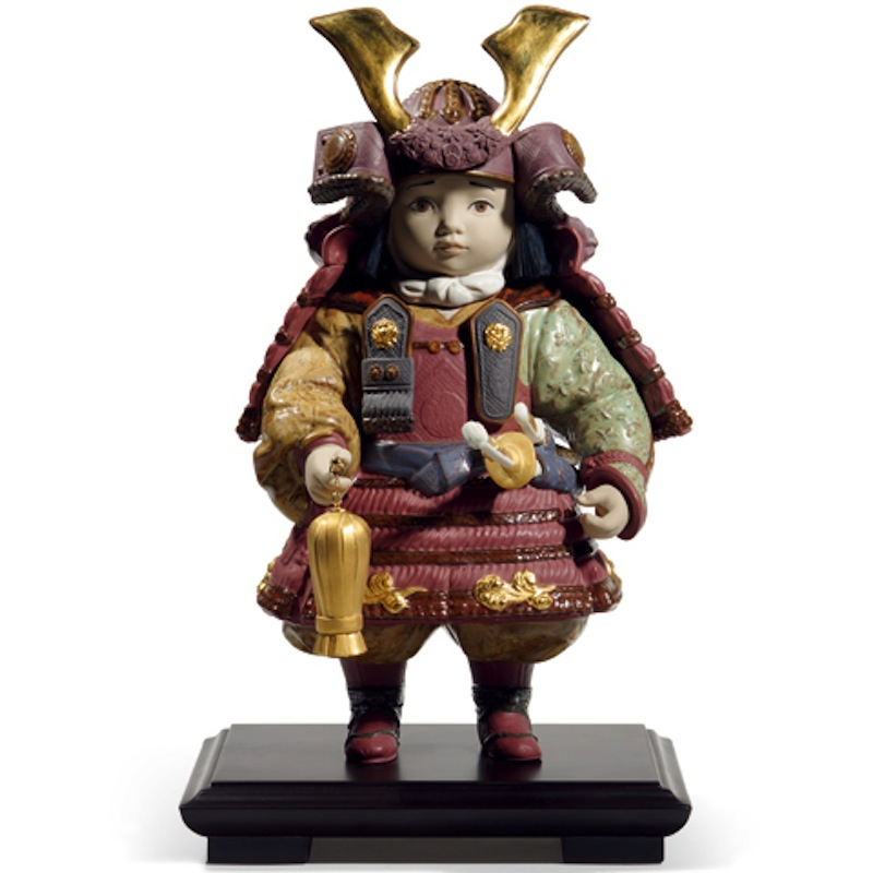 リヤドロ 五月人形 陶器 子供大将飾り 武者人形 Lladro 磁器人形 若武者60周年記念モデル 台座付 限定3500体 【2018年度新作】 h285-01013045 人形屋ホンポ