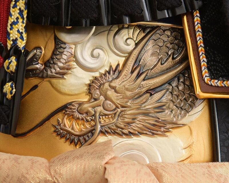 五月人形 10号 鎧収納飾り h315-mm-045 上杉鎧 鎧飾り 一龍作 上杉謙信 【2019年度新作】