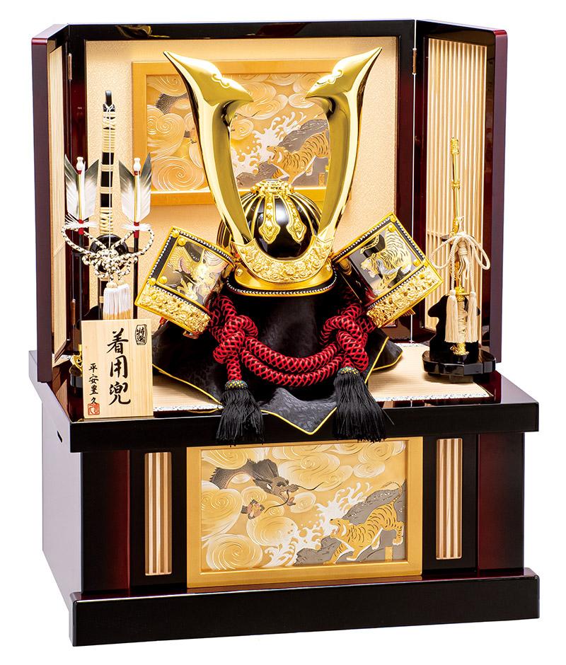 五月人形 豊久 着用 兜収納飾り 兜飾り 皇帝 25号 【2019年度新作】 h315-mo-502293 GD-115