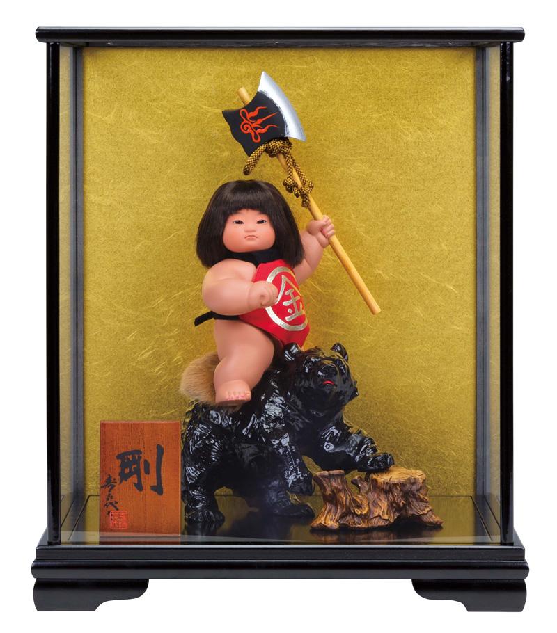 五月人形 コンパクト 金太郎 ケース飾り 浮世人形 スキヨ作 剛 ガラスケース付 【2018年度新作】 h305-sk-6220