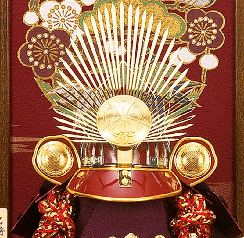五月人形 【2018年度新作】 8号 h305-moys-604 コンパクト 名将兜ケース飾り 平安一甲作 織田信長