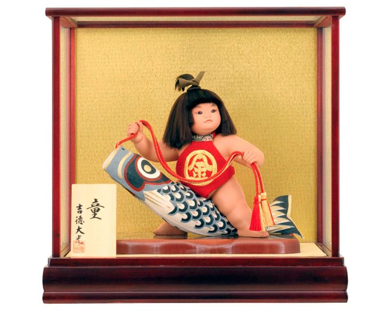吉徳 五月人形 コンパクト おしゃれ 金太郎 浮世人形 ケース飾り 6号 童 【2018新作】 h305-ys-503238 人形屋ホンポ