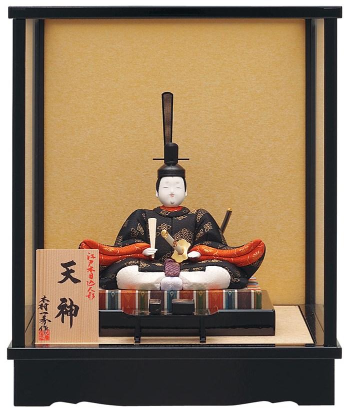 一秀 浮世人形 ケース飾り 木目込人形飾り 天神 2号 ケース入 【2018年度新作】 h309-io-027