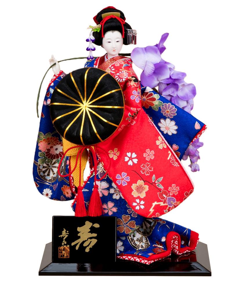 日本人形 尾山人形 人形単品 寿喜代作 極上 寿 藤娘 友禅 6号 【2020年度新作】 sk-gokujo695