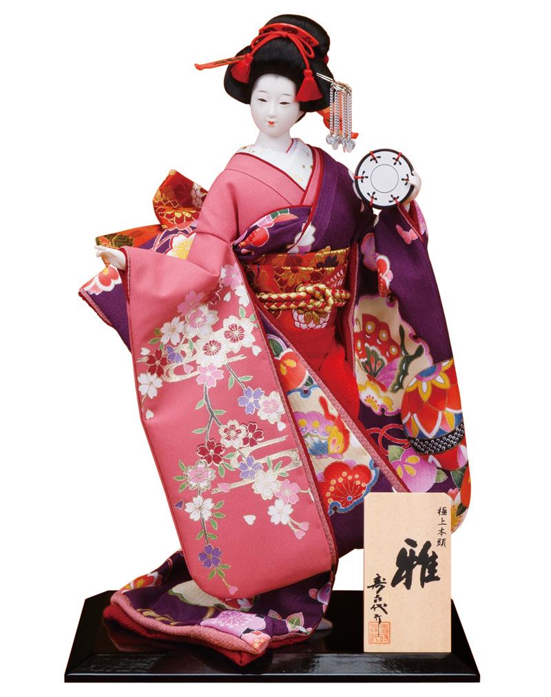 日本人形 尾山人形 人形単品 寿喜代作 極上本頭 雅 金彩 8号 【2018年度新作】 sk-gokujo740 人形屋ホンポ