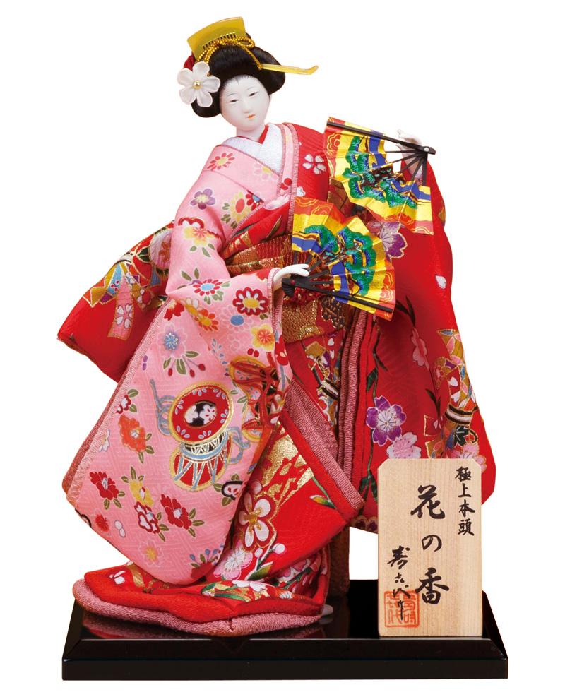 日本人形 尾山人形 人形単品 寿喜代作 極上本頭 花の香 正絹 5号 【2020年度新作】 sk-hananok522