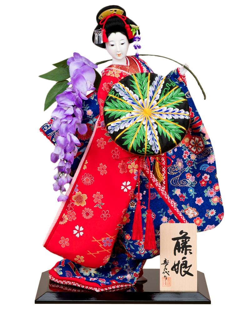 日本人形 尾山人形 人形単品 寿喜代作 藤娘 友禅 10号 【2018年度新作】 sk-o1426 人形屋ホンポ