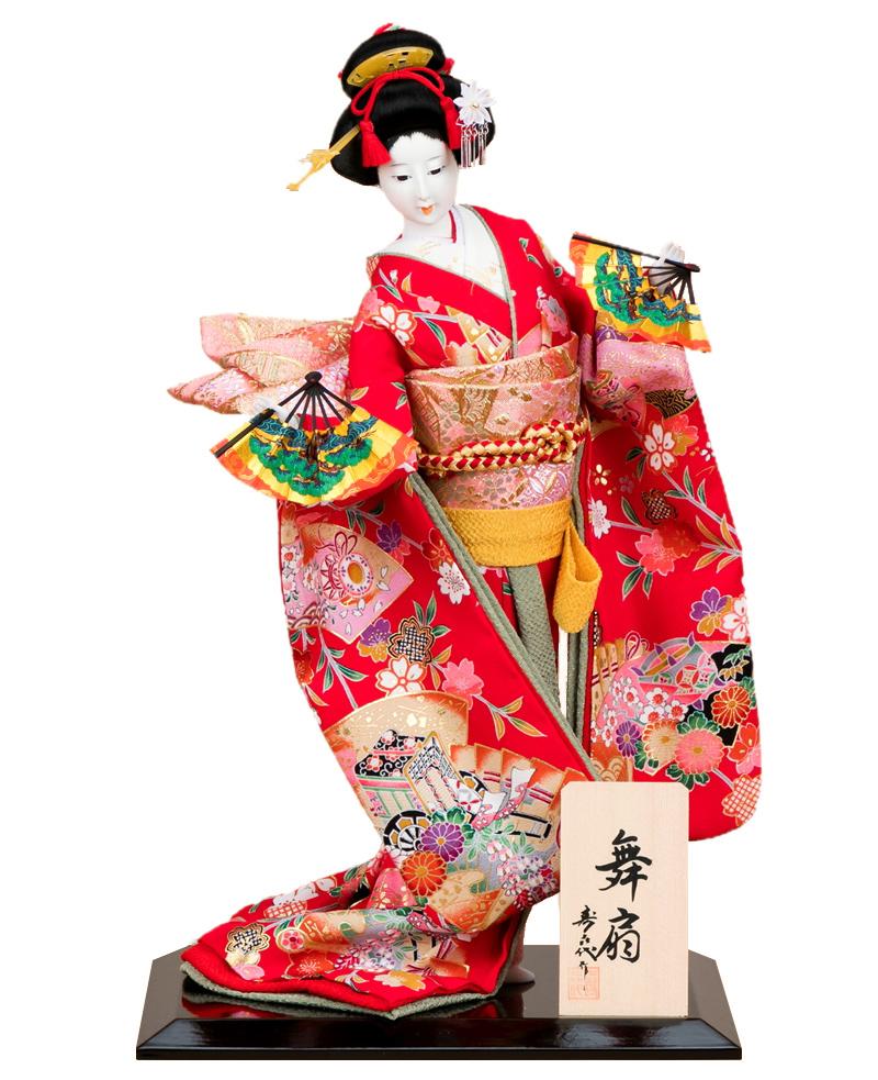 日本人形 尾山人形 人形単品 寿喜代作 舞扇 正絹 10号 【2018年度新作】 sk-o1677 人形屋ホンポ