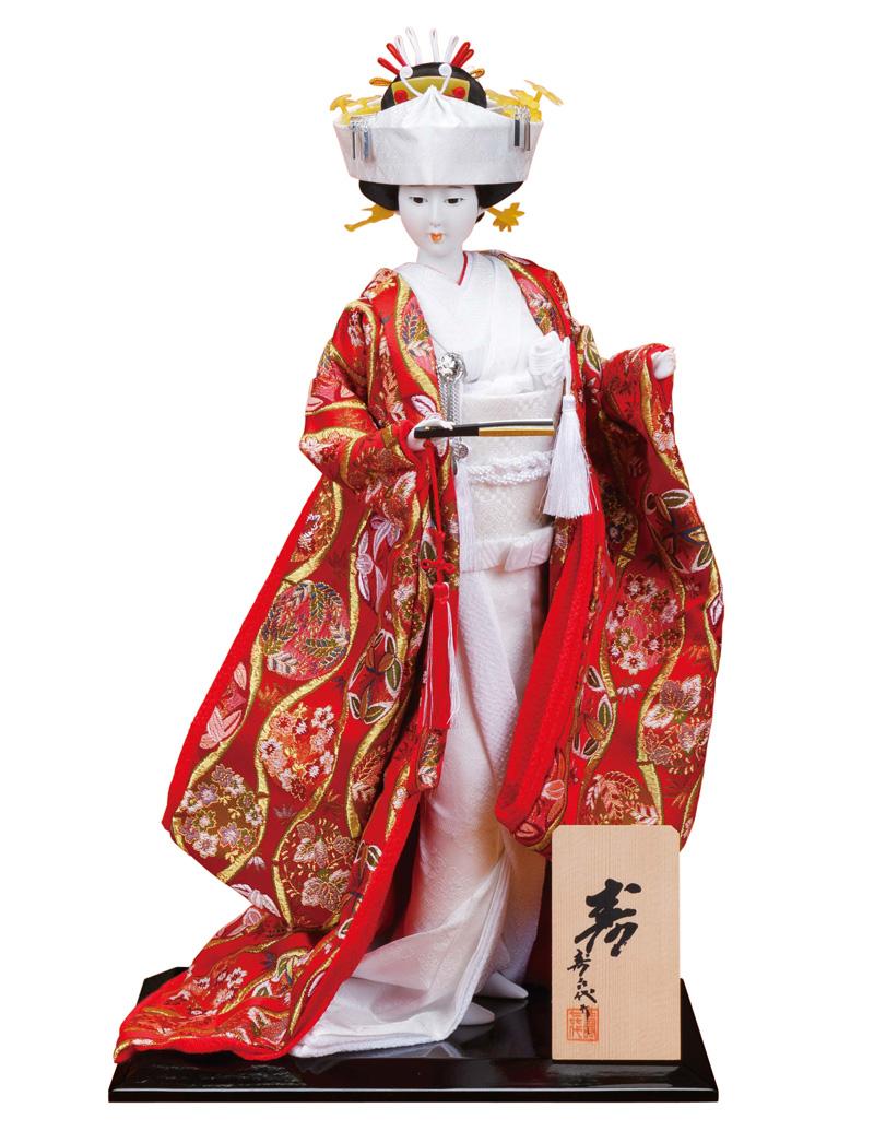 日本人形 尾山人形 人形単品 寿喜代作 寿 金らん 10号 【2018年度新作】 sk-o1823 人形屋ホンポ