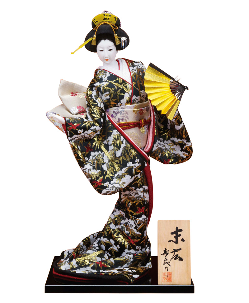 日本人形 尾山人形 人形単品 寿喜代作 末広 金らん 12号 【2018年度新作】 sk-o2392 人形屋ホンポ