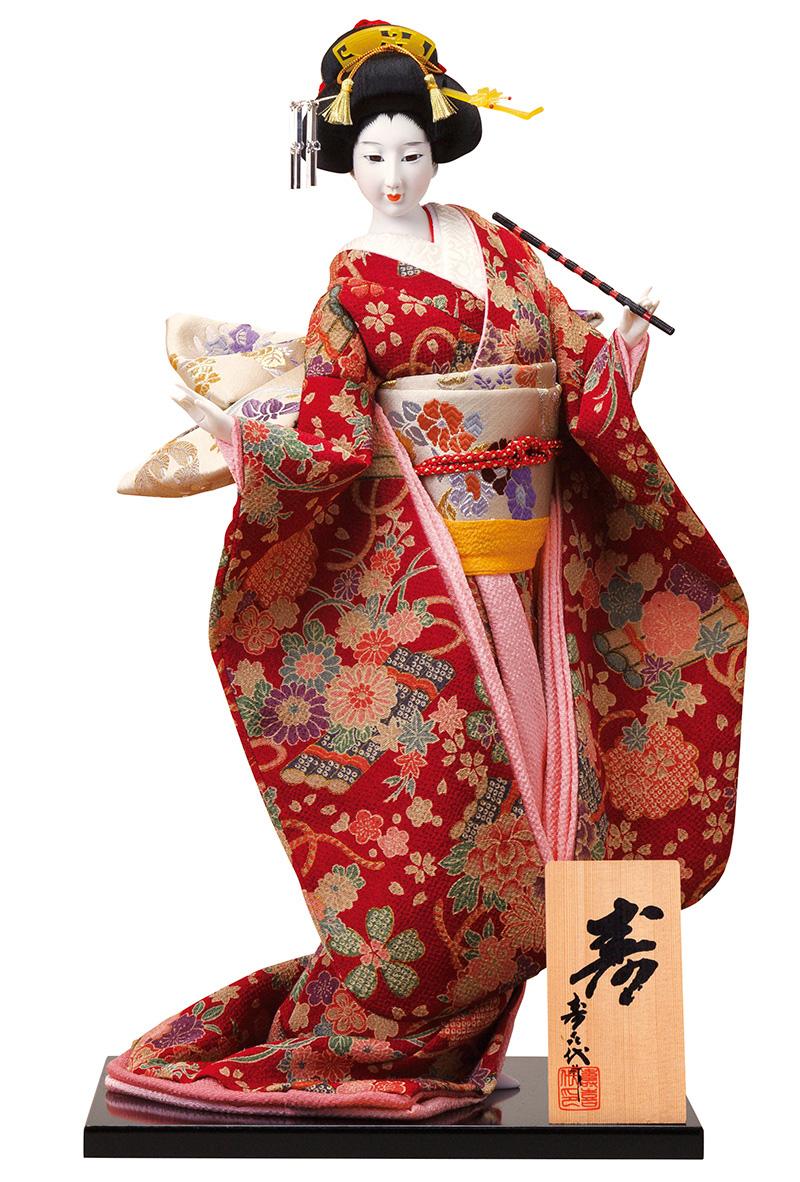日本人形 尾山人形 人形単品 寿喜代作 寿 ちりめん 12号 【2018年度新作】 sk-o2626