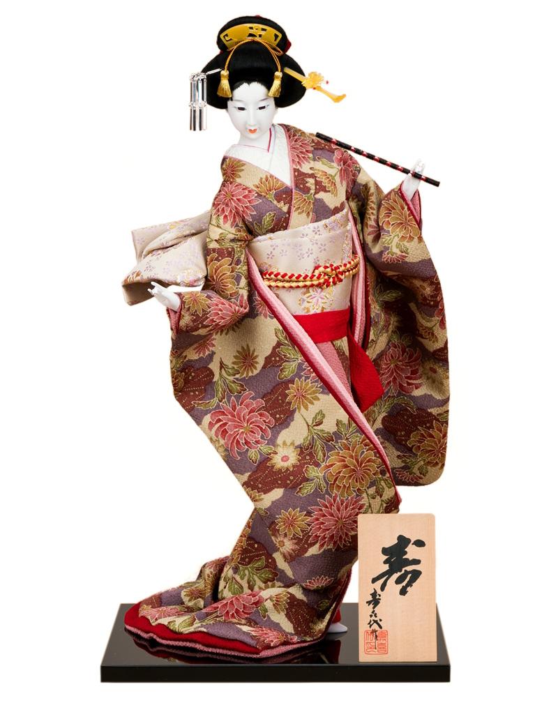 日本人形 尾山人形 人形単品 寿喜代作 寿 ちりめん 12号 【2020年度新作】 sk-o2628