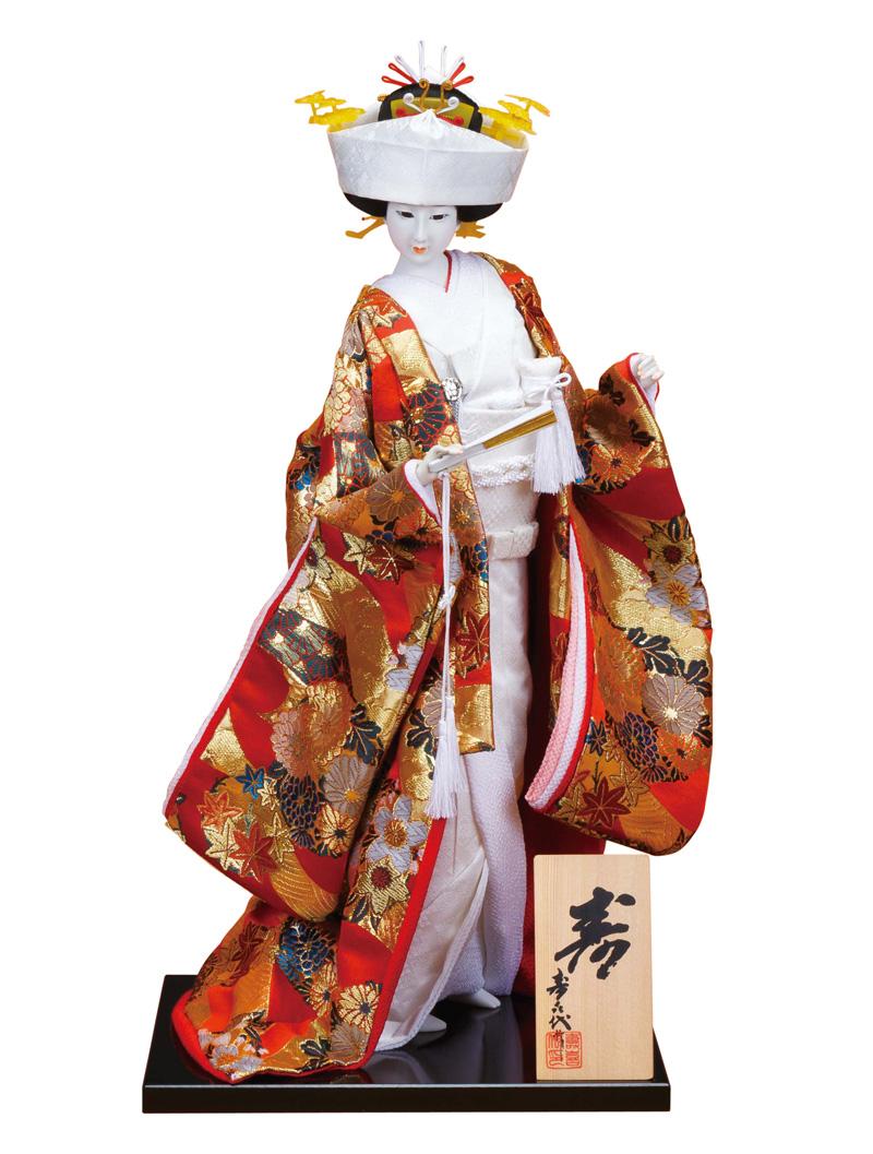 日本人形 尾山人形 人形単品 寿喜代作 寿 金らん 12号 【2018年度新作】 sk-o2657 人形屋ホンポ