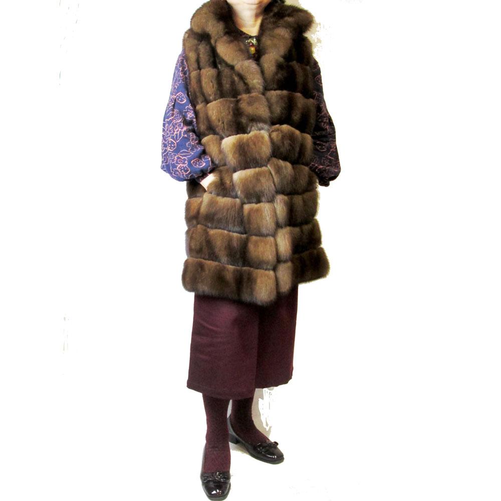 ロシアンセーブルロングベスト 毛皮 ファー fur 最高級毛皮 Russiansable セーブルファー 毛皮ベスト
