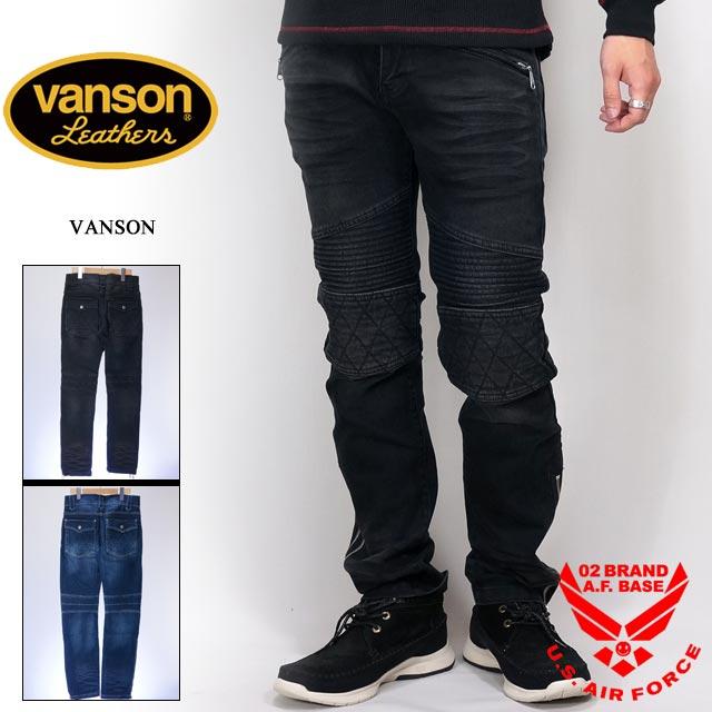 バンソン ストレッチ バイカーズパンツ メンズ VANSON nvbl-803