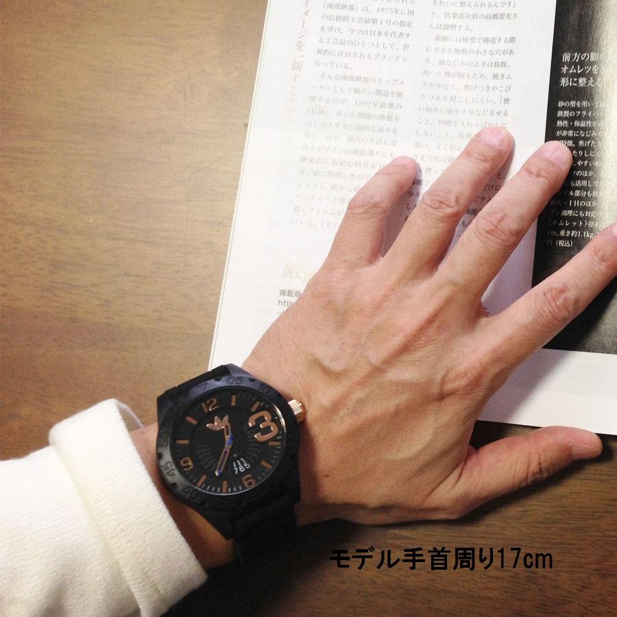 ADIDAS(아디다스) 스포츠 워치 캘린더 NEWBURGH 뉴바그 ADH3082 블랙 x로즈 골드흑・금 맨즈 남성용 손목시계 방수 경량 핑크 골드 시계
