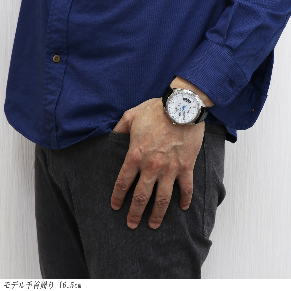 【希少!!国内未発売カラー】CITIZEN collection シチズン コレクション CB0180-11A ダイレクトフライト ホワイト 白 レザーベルト ECODRIVE エコドライブ Radio-Controlled 電波 ソーラー 日本製 made in japan 男性用 メンズ 腕時計 Perfex パーフェックス