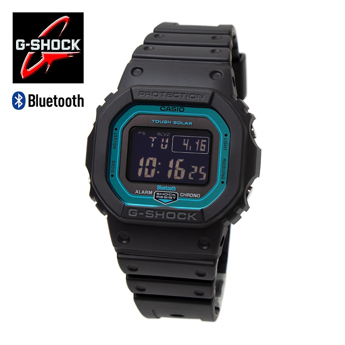 【Bluetooth & 電波ソーラー】G-SHOCK ジーショック CASIO カシオ GW-B5600-2ER タフソーラー マルチバンド6 ブラック ブルー スマホ連動 電波時計 スマートウォッチ ボーイズサイズ メンズ 男性用 腕時計 ユニセックス スクエア 四角形 スピードモデル スマートフォン