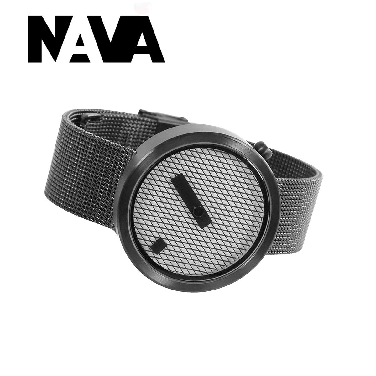 【ラッピング無料】個性を極めた腕時計!! NAVA DESIGN ナバデザイン JACQUARD ジャカード O603 ブラック 黒色 メンズ レディース ウォッチ 男性用 女性用 腕時計 ナヴァデザイン NVA020041