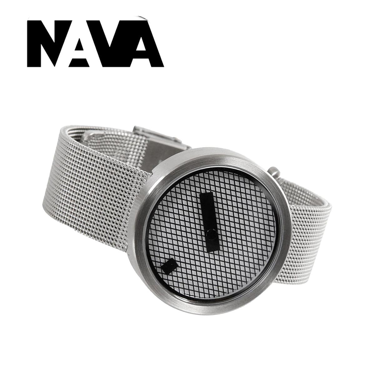 【ラッピング無料】個性を極めた腕時計!! NAVA DESIGN ナバデザイン JACQUARD ジャカード O605 マットシルバー steel スチール メンズ レディース ウォッチ 男性用 女性用 腕時計 ナヴァデザイン 個性的 NVA020042