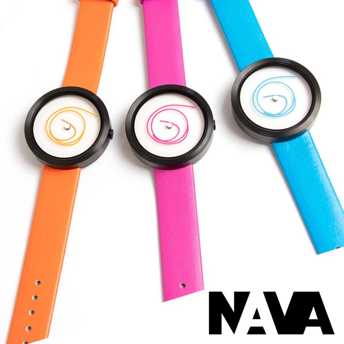 【ラッピング無料】選べる3色NAVA DESIGN ナバデザイン ORA UNICA O407 腕時計&手帳 ギフトセット 36MM ボーイズサイズ レディース 女性用 デザイナーズウォッチ ピンク ブルー オレンジ ナヴァデザイン レディス ガールズ 個性的