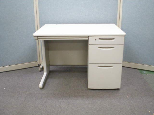 【中古オフィス家具】オカムラ SD-V 107片袖机(鍵1個付)幅1000