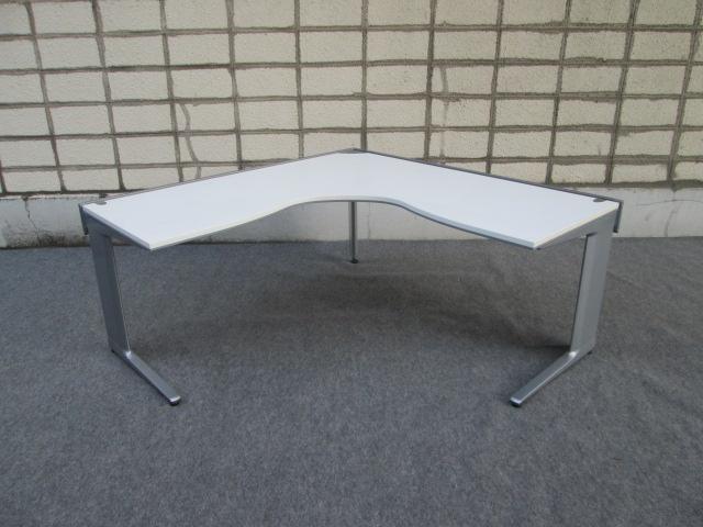【中古品】ProStage オカムラ L型デスク 天板ホワイト W1600xD1600 オフィスデスク