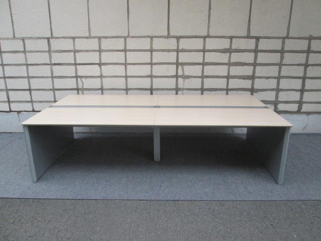 【中古品】オカムラ ProUnit Freeway W2800×D1400 両面タイプオフィスデスク【中古オフィス家具】