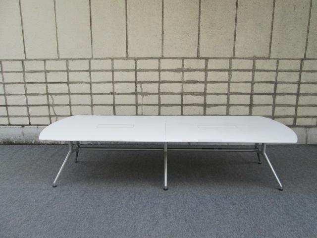 【中古品】イトーキ DD 会議テーブル 天板白 配線対応天板仕様【中古オフィス家具】