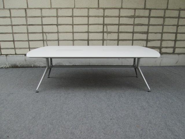【中古】イトーキ DD 会議テーブル 天板白 配線対応天板仕様 W2400×D1200