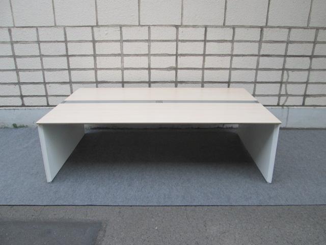 オカムラ ProUnit Freeway W2400×D1400 両面タイプ オフィスデスク【中古品】