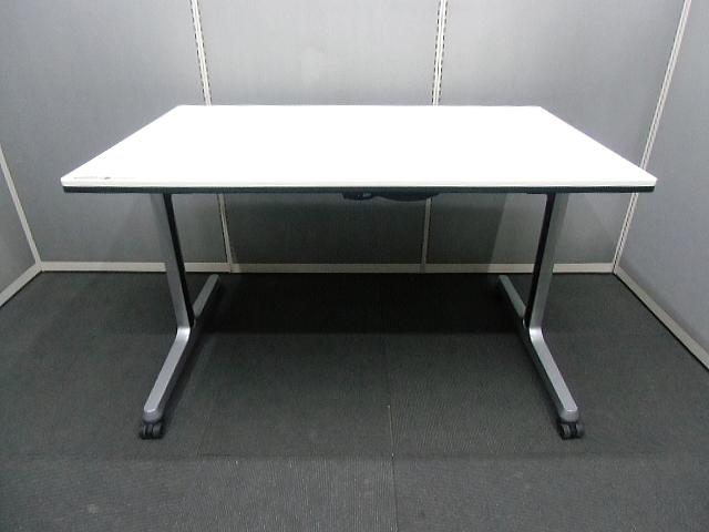 【中古品】okamura W1200×D750×H720 インターアクトPRO サイドフォールドテーブル