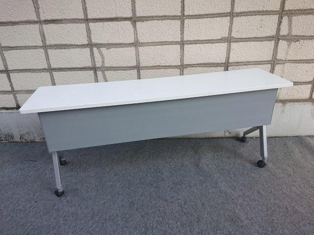 okamura サイドフォールドテーブル フラプター W1800×D450×H720【中古品】【配送先が指定地域のみの販売】