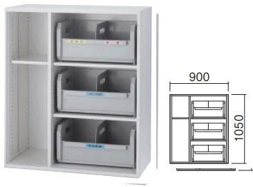 イナバ ラインユニット TFシリーズ リサイクル棚+ベースセット INABA Line Unit 下置き用