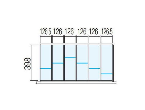 【ラテラル オプションパーツ】仕切り板セット INABA Line Unit TF 壁面収納ユニット用☆【W900×D450用 6分割タイプ】