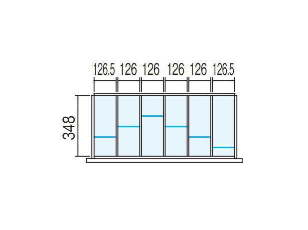 【ラテラル オプションパーツ】仕切り板セット INABA Line Unit TF 壁面収納ユニット用【W900×D400用 6分割タイプ】