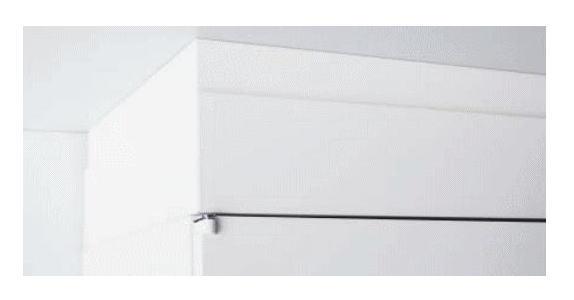 【オプションパーツ】笠木 H90-130mm INABA Line Unit TF 壁面収納ユニット用☆W900×D450対応