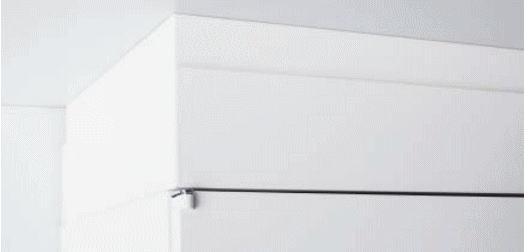 【オプションパーツ】笠木 H210-250mm INABA Line Unit TF 壁面収納ユニット用 W900×D450対応