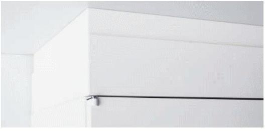 【オプションパーツ】笠木 H130-170mm INABA Line Unit TF 壁面収納ユニット用 W900×D450対応