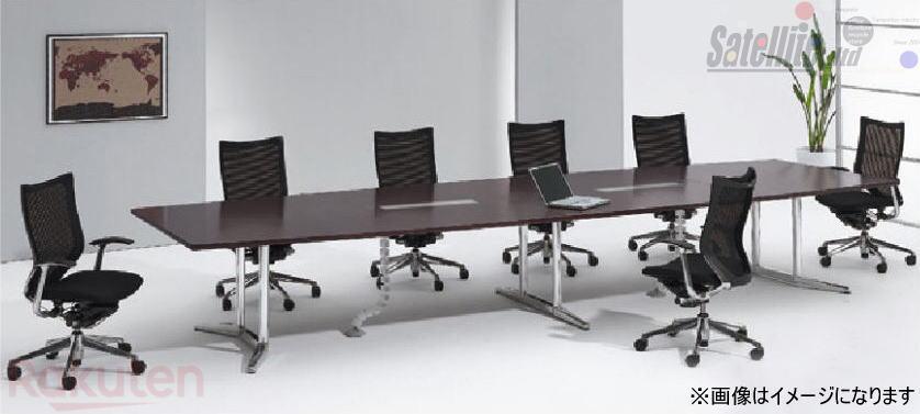 ラティオ オフィス家具 オカムラ テーブルW3200×D1200 大放出セール 会議室 打ち合わせテーブル 高級な 配送先が指定地域のみの販売 舟形会議テーブル 新品 天板同色 okamura RATIO2 W3200配線ボックス付 塗装脚