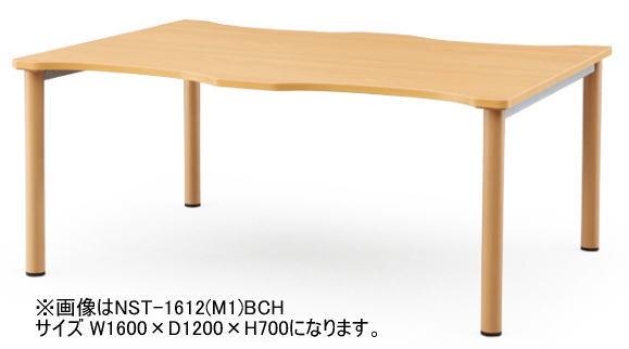 NSTテーブル W800×D1200 AICO ミーティングテーブル 塗装脚タイプ