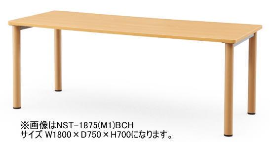 アイコ NSTテーブル 会議用テーブル 塗装脚タイプ W1800×D900