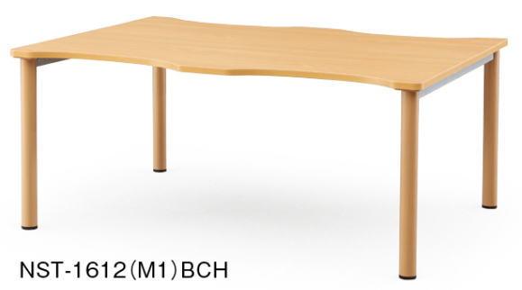 アイコ NSTテーブル 会議用テーブル 塗装脚タイプ W1600×D1200