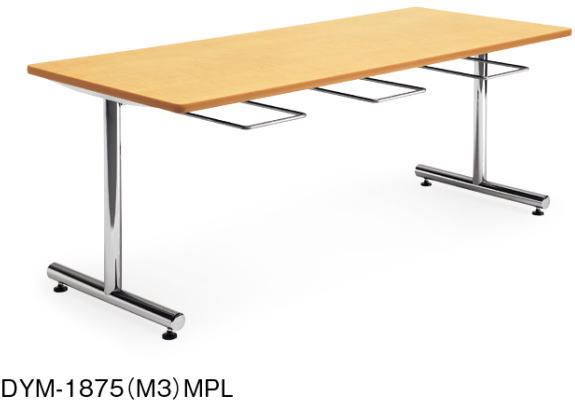 アイコ DYMテーブル 会議用テーブル クロームメッキタイプ 幅1800